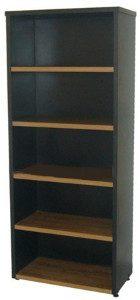 librero nogal con negro