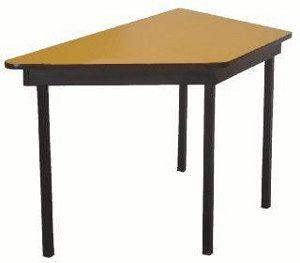 mesa trapecio amarilla